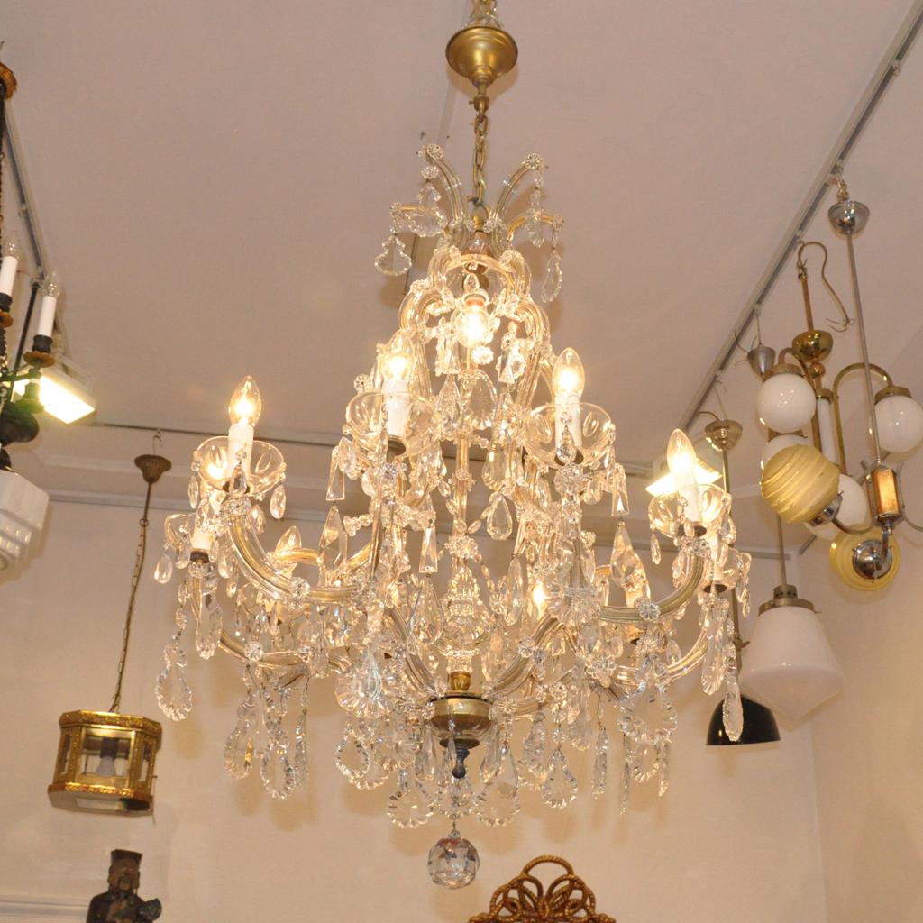 kristalll ster maria theresia um 1930 stilbruch antiquit ten. Black Bedroom Furniture Sets. Home Design Ideas