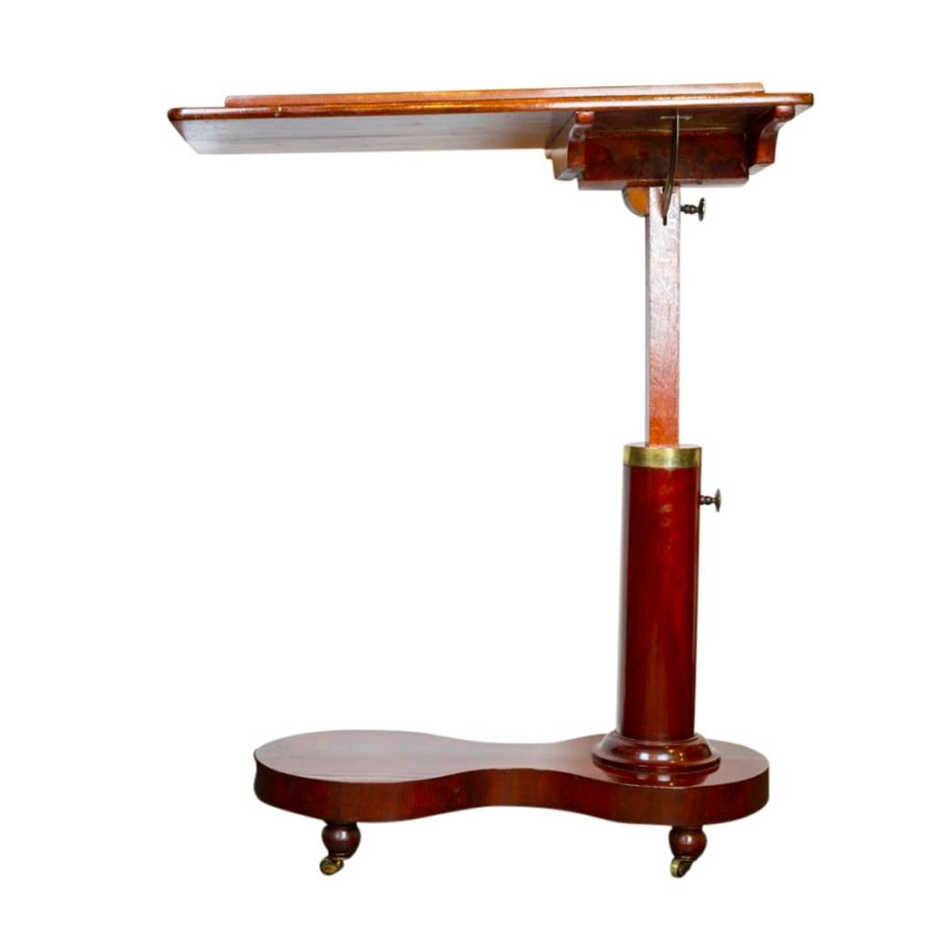 verstellbarer bett beistelltisch wohl wien biedermeier 1 stilbruch antiquit ten. Black Bedroom Furniture Sets. Home Design Ideas